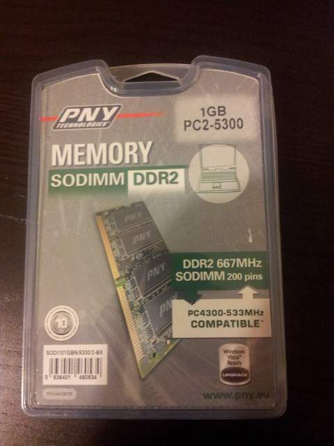 Ram DDR 2 da 1 GB per Notebook e/o Netbook