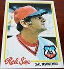 Rookie Carl Yastrzemski Original Baseball Cards