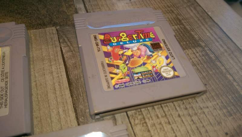 Burger time nintendo game boy gioco originale