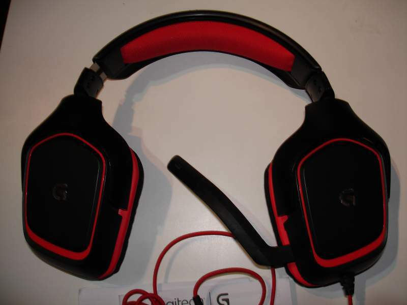 Cuffie gaming stereo Logitech G230 nero / rosso 3