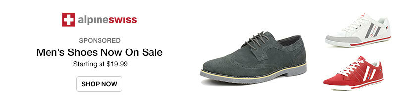 Alpine Swiss Men's Shoes Starting at $19.99