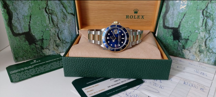Rolex Submariner Date quadrante blu Luminova