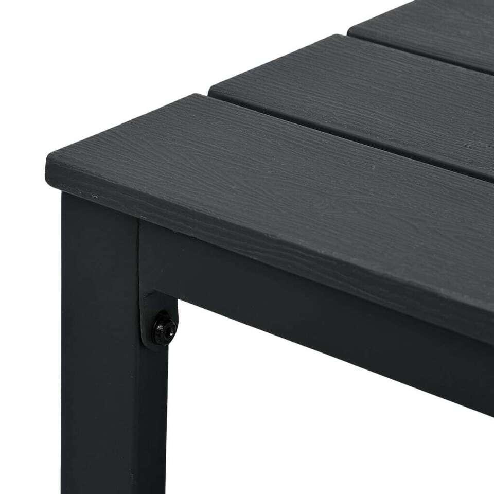 Tavolino da Caffè Nero 98x48x39 cm HDPE Aspetto Legno 4