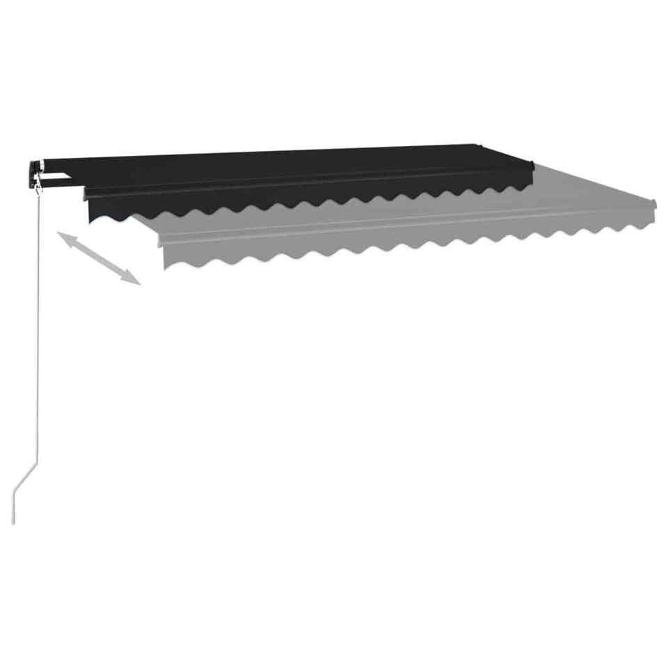 Tenda da Sole Retrattile Manuale 400x350 cm Antracite 3