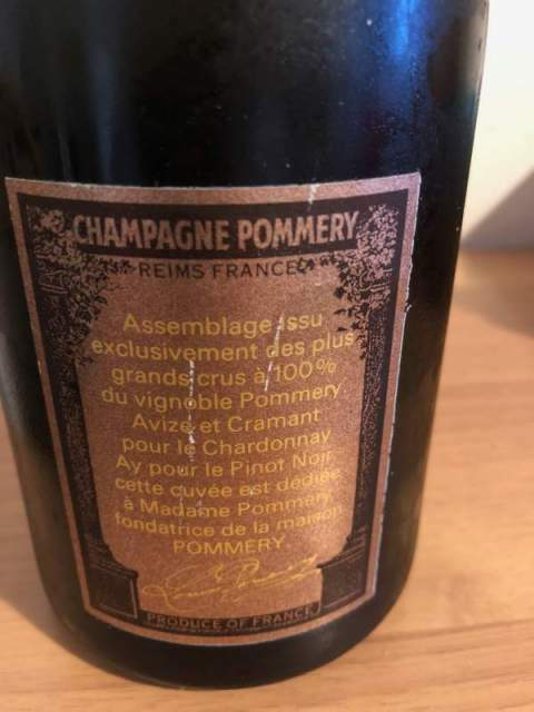 Champagne cuvee speciale Louise Pommery vintage 1985 6