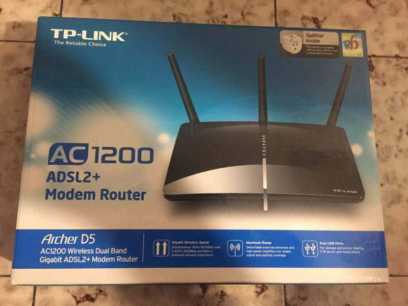 Modem router wifi adsl tp link ac1200