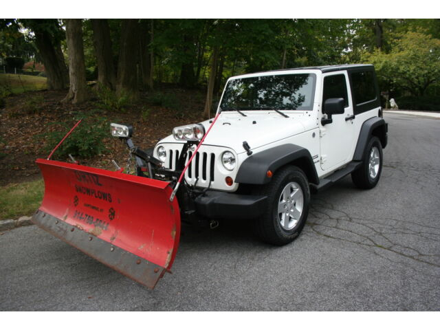 2010 jeep wrangler sport 4wd white 6000 western plow setup all power only 47k used jeep. Black Bedroom Furniture Sets. Home Design Ideas