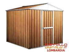 Box baracca lamiera Acciaio 275x175cm finitura legno