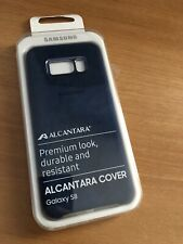 Cover Alcantara Galaxy S8 Colore Blu - ORIGINALE