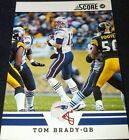 Score Tom Brady Single Football Trading Cards