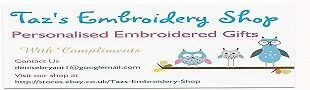 Taz's Embroidery Shop