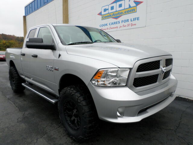 new 2014 dodge ram st quad cab 4x4 with 4in lift and 35in wheels new dodge ram 1500 for sale. Black Bedroom Furniture Sets. Home Design Ideas