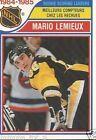 Rookie Mario Lemieux Not Professionally Graded Hockey Cards