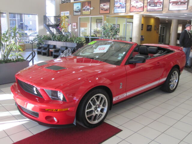 convertible gt500 mustang red leather navigation low mile 500 horsepower certified pre. Black Bedroom Furniture Sets. Home Design Ideas