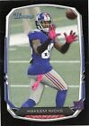 Bowman Hakeem Nicks Original Football Trading Cards