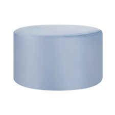 BELIANI Pouf in velluto color azzurro MILLEN
