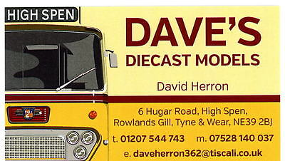 DAVES DIE-CAST MODELS