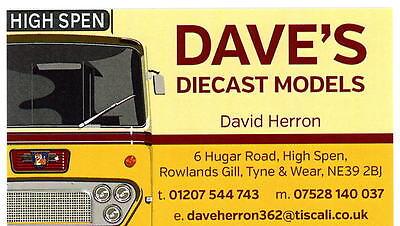 DAVES DIE-CAST MODELS