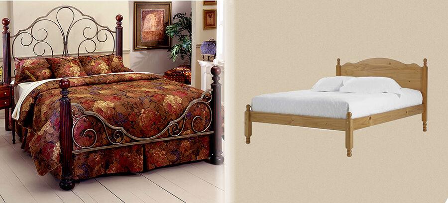 Metal And Wood Bed Frames wooden vs. metal bed frames | ebay