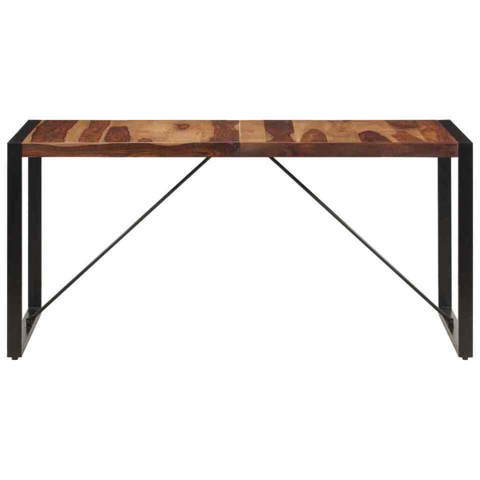 Tavolo da Pranzo 160x80x75 cm in Legno Massello di Sheesham 4