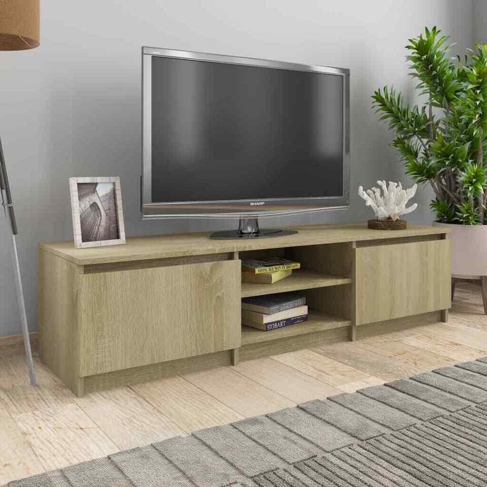 Mobile TV Rovere Sonoma 140x40x35,5 cm in Truciolato