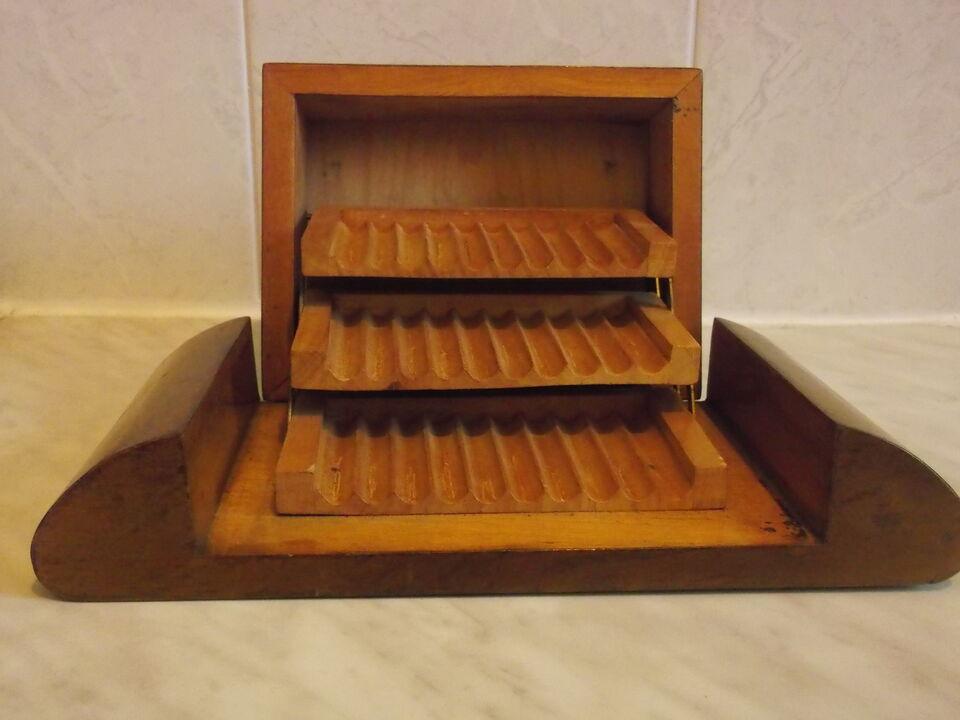 Porta sigarette in legno pregiato stile Deco anni '30/'40