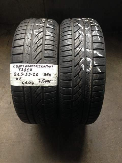 Gomme usate continental 215/55 r 16 97h cwc ts810 pneumatici usati 2
