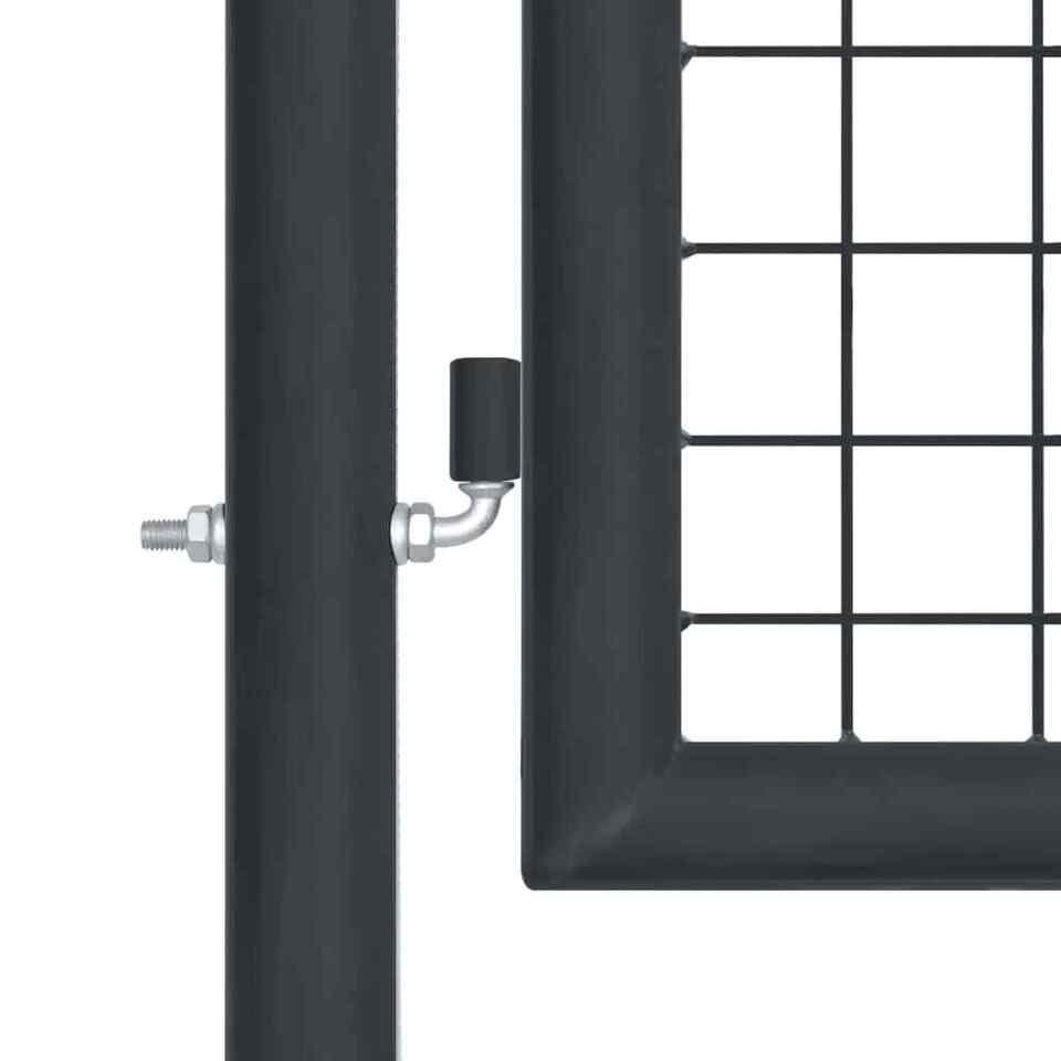 Cancello per Giardino in Acciaio Zincato 400x150 cm Grigio 3