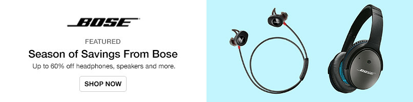 Up to 60% off Bose
