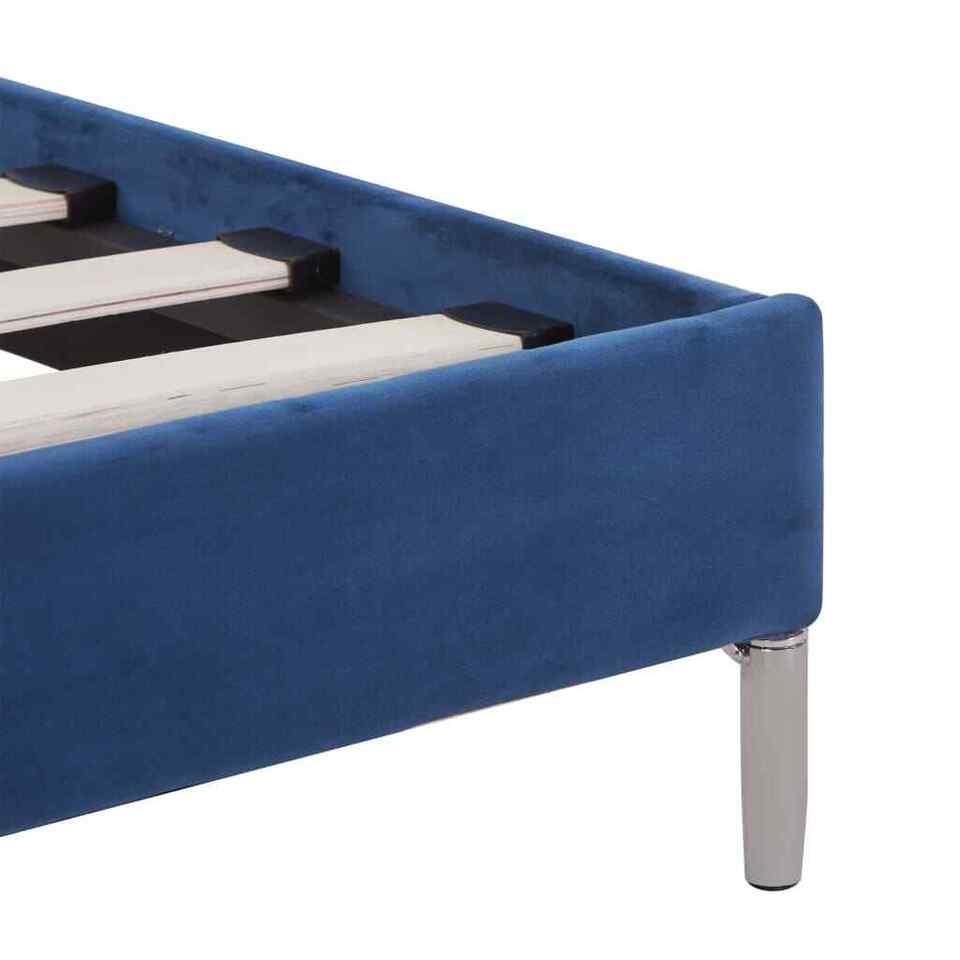 Giroletto con Luci LED Blu in Tessuto 160x200 cm 7