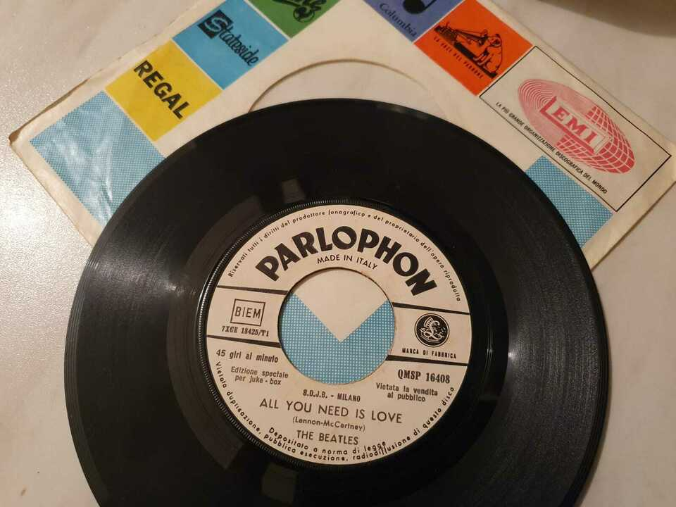 """Vinile 45 giri The Beatles """"All you need this love"""""""