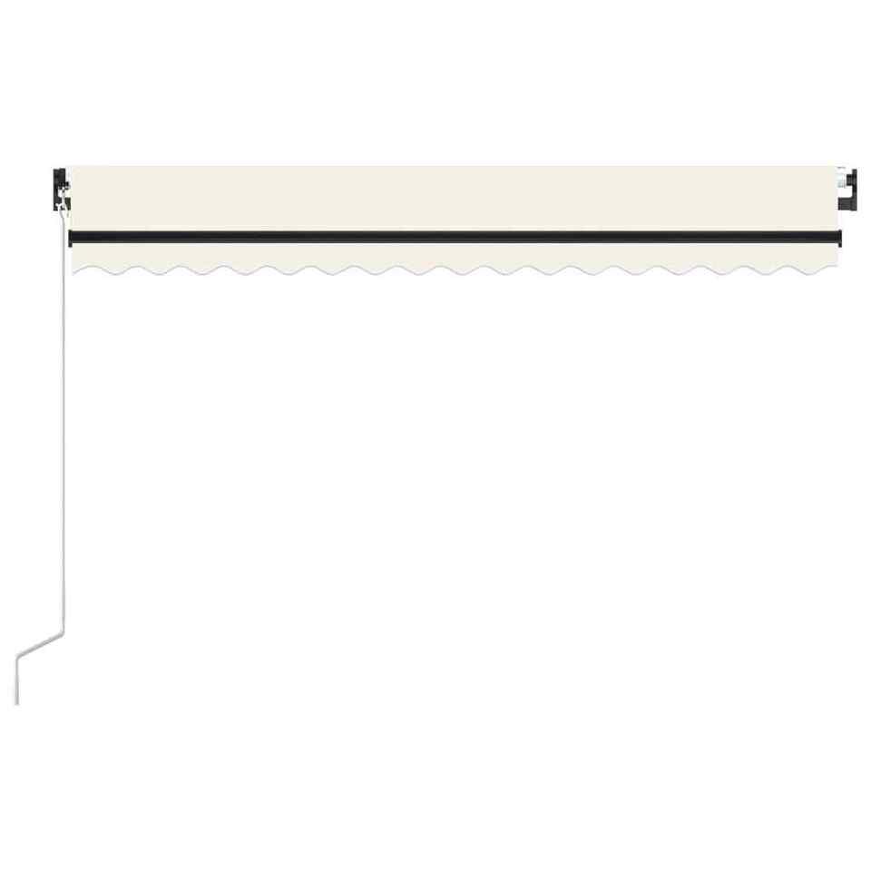 Tenda da Sole Retrattile Manuale con LED 450x300 cm Crema 3