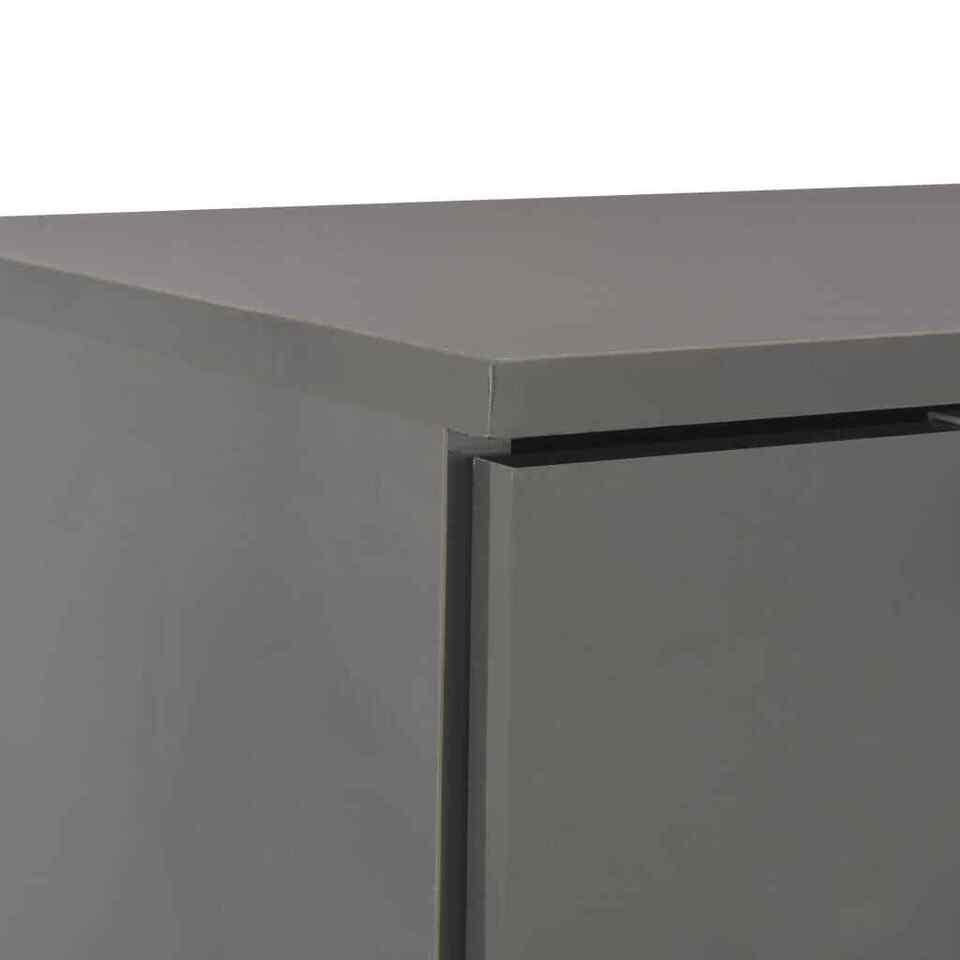 Credenza con Finitura Lucida Grigia 71x35x76 cm in Truciolato 7