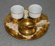 """Servizio caffe': due tazzine, zuccheriera, vassoio made in """"ddr"""""""