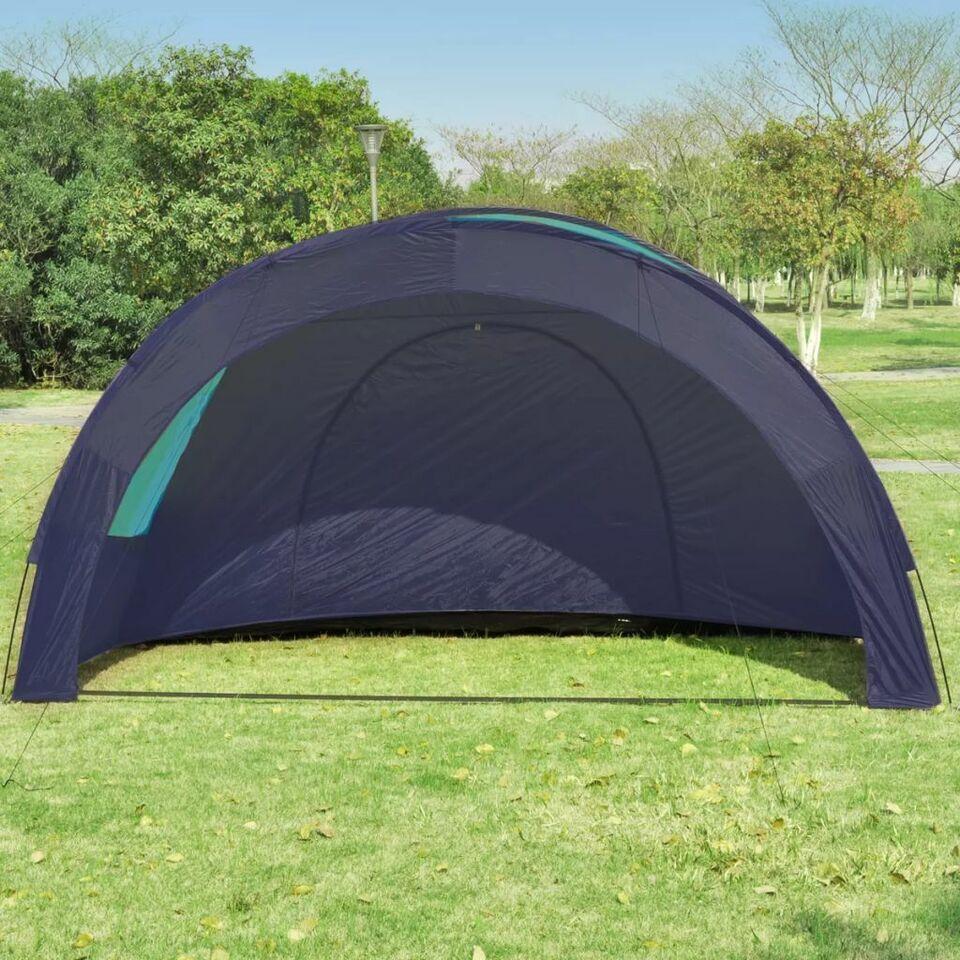 Tenda da Campeggio Poliestere per 6 Persone Blu Scuro e Azzurro 3