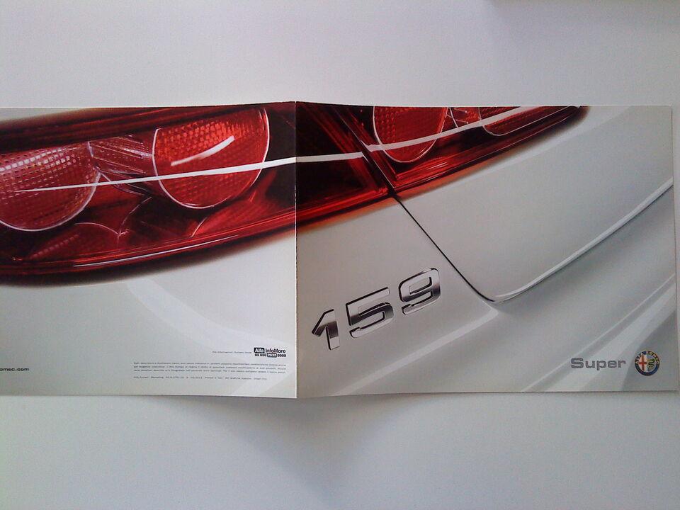 Alfa Romeo 159 dépliant Super Caratteristiche Dotazioni Optional