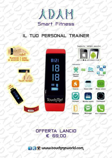 Orologio touch screen android - adam smart fitness 5