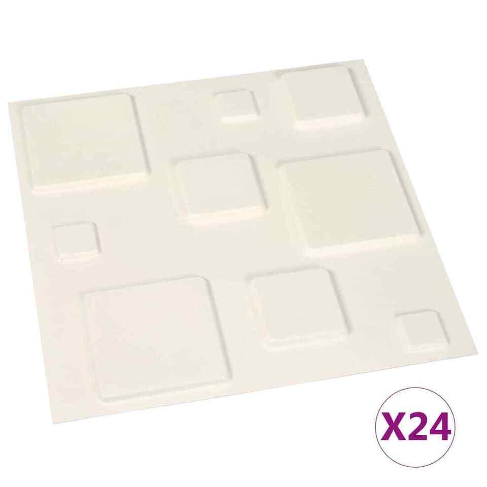 Pannelli a Parete 3D 24 pz 0,5x0,5 m 6 m² 2