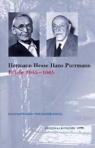 Zimmermann, Eva - Hermann Hesse  Hans Purrmann: Briefe 1945-1962