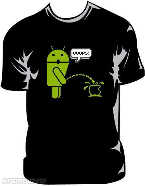 T-shirt android mangia mela-apple- samsung lg motorola htc tablet sony 3
