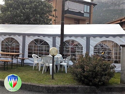 Gazebo Party, Tensostruttura 4 x 6 uso feste pvc ignifugo 2