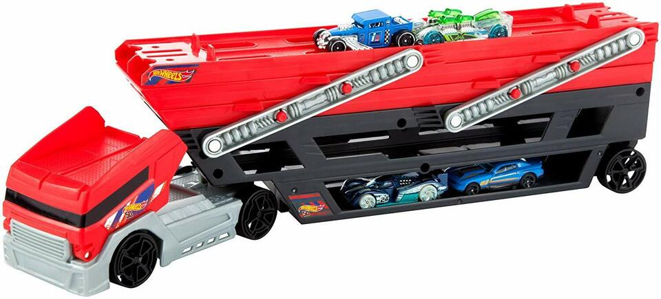 Hot Wheels Mega Trasportatore con Rimorchio