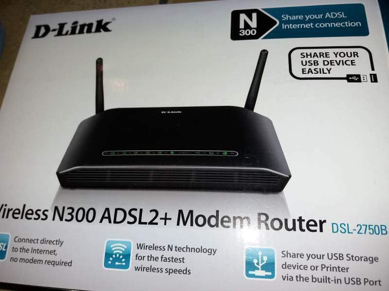 Modem D-LINK DSL-2750B Wireless N ADSL2+ Modem Router