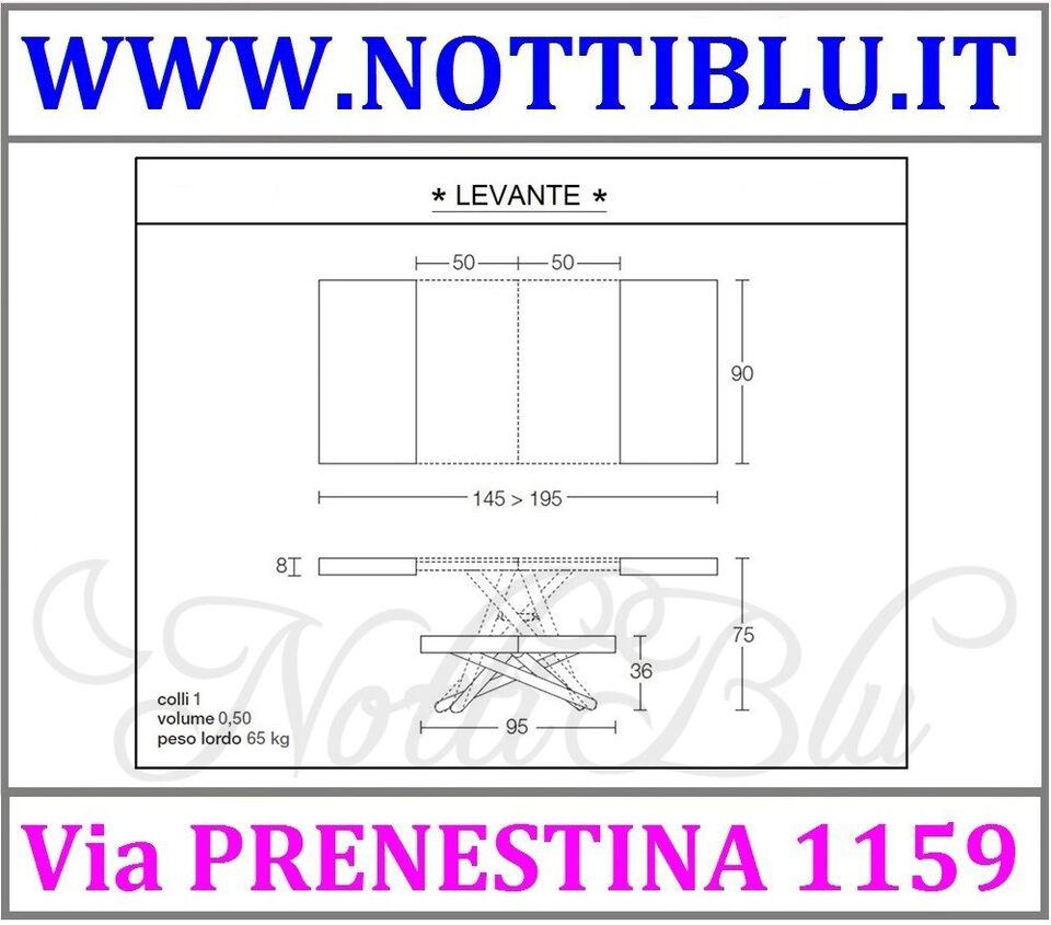 Tavolini Trasformabili Roma _ Tavolino Saliscendi LEVANTE / A12 6
