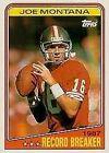 Topps Joe Montana Lot Football Trading Cards