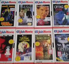 8 VHS English Movie Collection