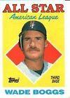 Topps Wade Boggs Single Baseball Trading Cards