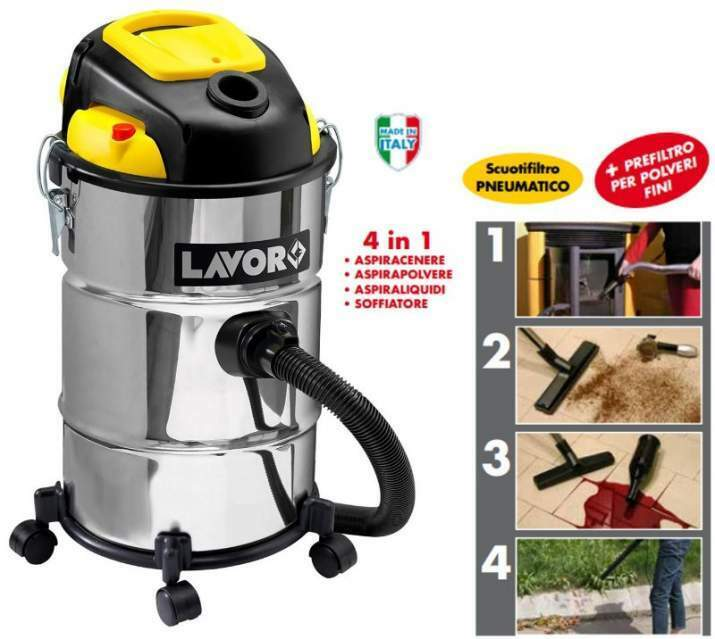 Bidone Aspiratutto 4IN1 LAVOR ASHLEY KOMBO 1200W