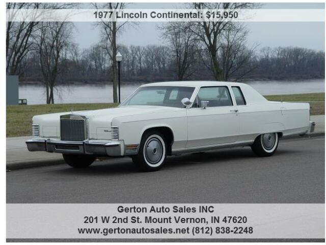 1977 lincoln continental town coupe 1 owner with 10k actual miles used lincoln continental for. Black Bedroom Furniture Sets. Home Design Ideas