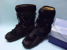 Moon Boot Patons Olympic in pelo marrone scuro